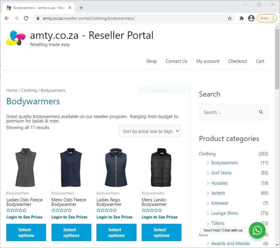 AMTY Reseller Portal Website Screenshot