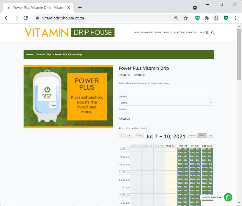 Vitamin Drip House Bookings